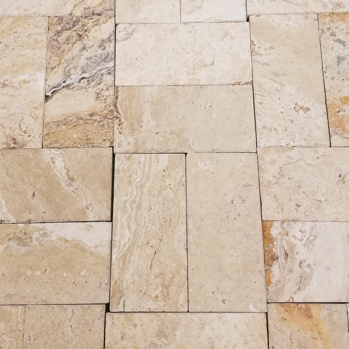 6×12 Leonardo Tumbled Pavers | Travertine and Marble – Tiles