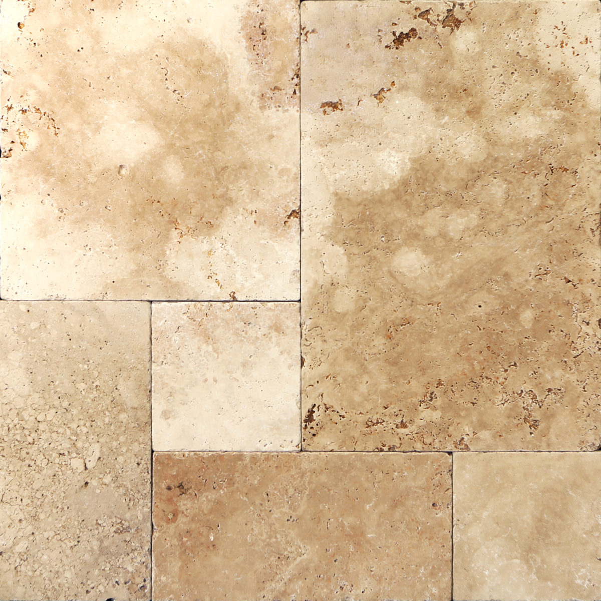 Brushed and chilesed travertine tiles travertine pavers marble mocha french pattern tumbled travertine paver dailygadgetfo Image collections