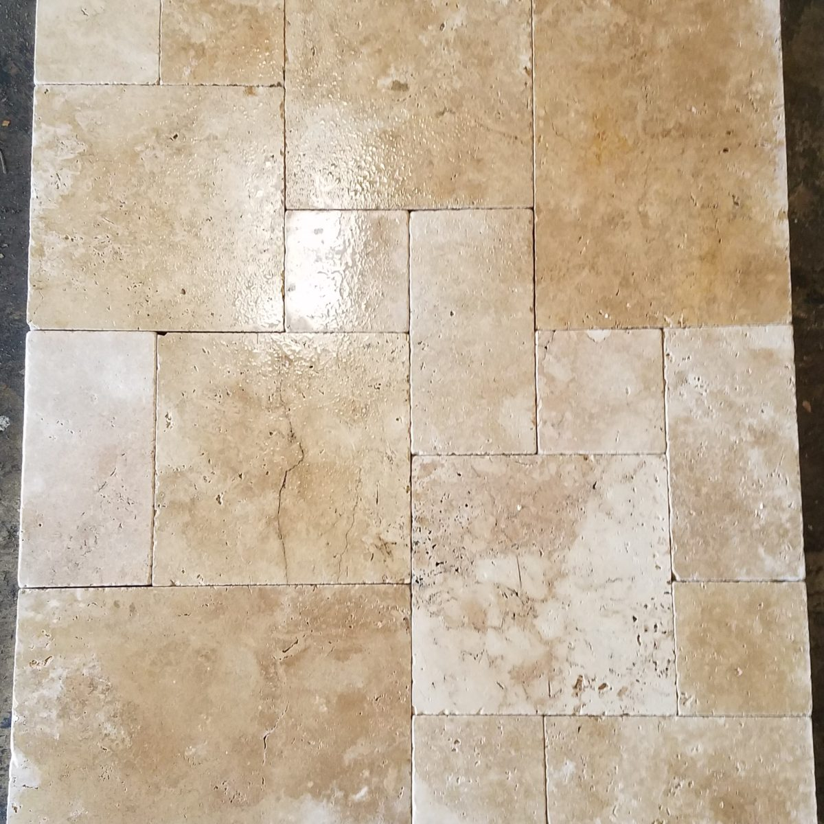 Travertine floor tile patterns