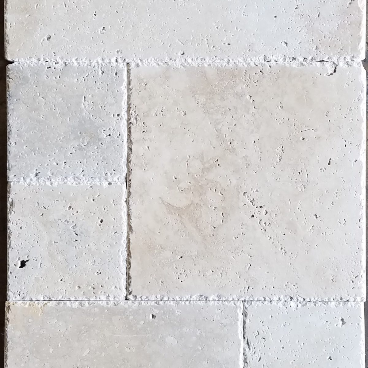French Pattern Ivory Brushed And Chiseled Tile