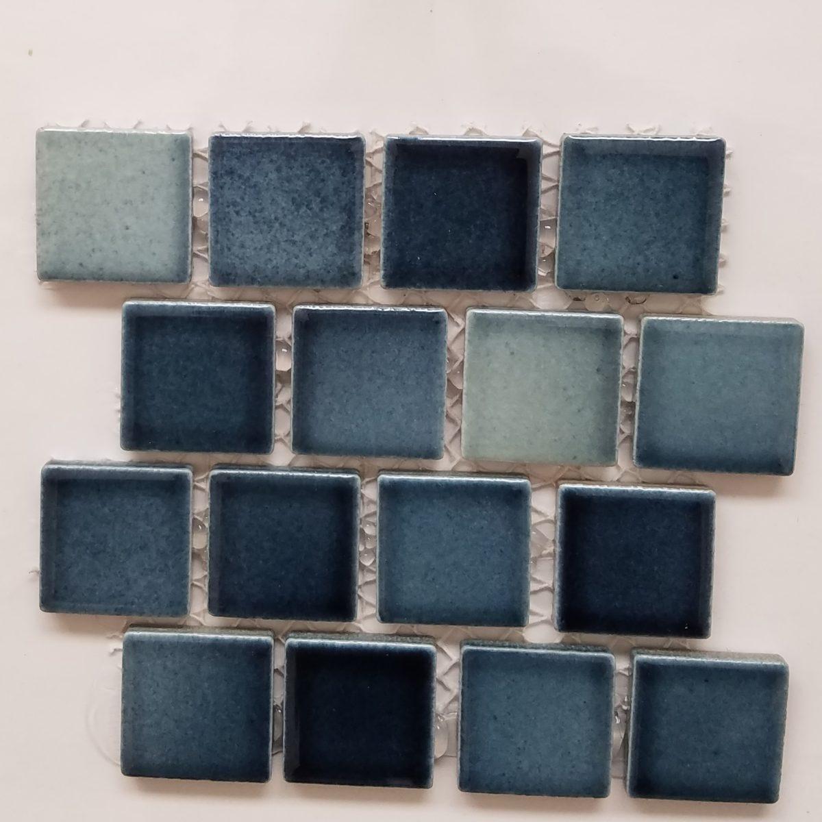 Sea breeze light 12×12 on mesh Porcelain Mosaics 130 | Travertine ...