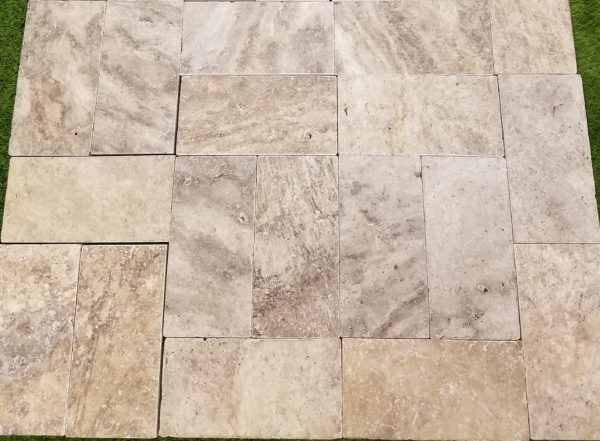 6×12 Silver Travertine Tumbled Paver | Travertine and Marble – Tiles