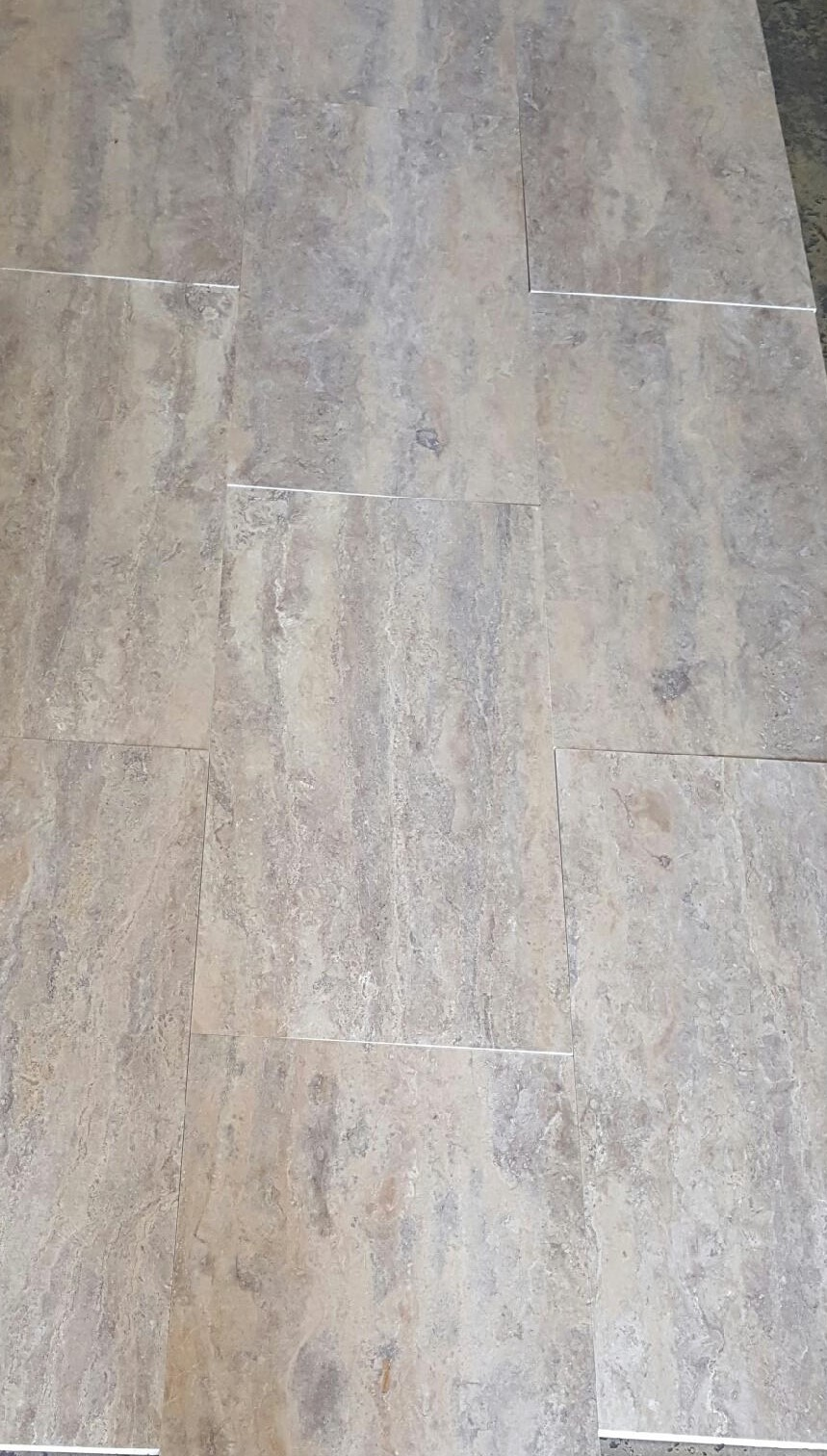 Silver Honed And Filled Travertine Tile Travertine