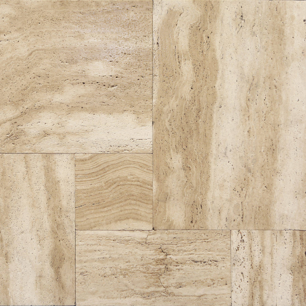 French Pattern Straight Edge Patara Vein Cut Travertine Tile