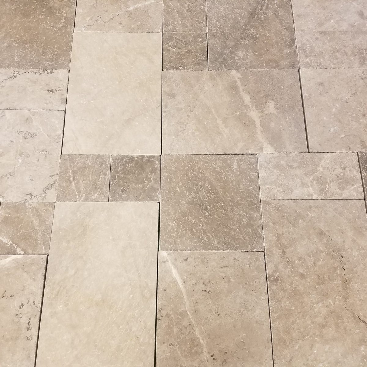 Tundra Gray Tumbled Marble Paver Travertine And Marble